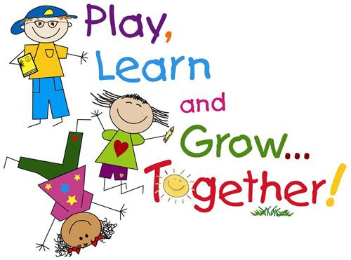 Play Learn and Grow Together Clipart jpg